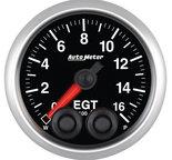 """Autometer Gauge, Pyro. (EGT), 2 1/16"""", 1600şF, Stepper Motor w/Peak & Warn, Elite 5646"""