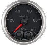 "Autometer Gauge, Oil Press, 2 1/16"", 100psi, Stepper Motor w/Peak & Warn, Elite 5652"
