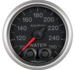 """Autometer Gauge, Water Temp, 2 1/16"""", 260şF, Stepper Motor w/Peak & Warn, Elite 5654"""