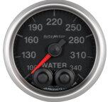 """Autometer Gauge, Water Temp, 2 1/16"""", 340şF, Stepper Motor w/Peak & Warn, Elite 5655"""