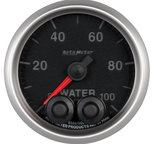 """Autometer Gauge, Water Press, 2 1/16"""", 100psi, Stepper Motor w/Peak & Warn, Elite 5668"""