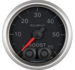 """Autometer Gauge, Boost, 2 1/16"""", 60psi, Digital Stepper Motor w/Peak & Warn, Elite 5670"""