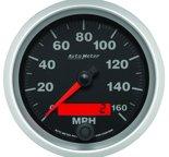 """Autometer Gauge, Speedometer, 3 3/8"""", 160mph, Elec. Programmable, Elite 5688"""