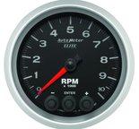 "Autometer Gauge, Tach, 3 3/8"", 10k RPM, In-Dash w/ Shift Light & Peak Mem, Elite 5697"