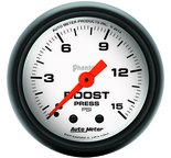 "Autometer Gauge, Boost, 2 1/16"", 15psi, Mechanical, Phantom 5702"