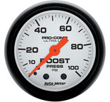 "Autometer Gauge, Boost, 2 1/16"", 100psi, Mechanical, Phantom 5706"