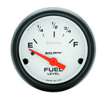 "Autometer Gauge, Fuel Level, 2 1/16"", 0?E to 90?F, Elec, Phantom 5714"