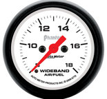 "Autometer Gauge, Air/Fuel Ratio-Wideband, Analog, 2 1/16"", 8:1-18:1, Stepper Motor, Phantom  5770"