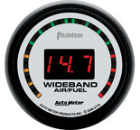 "Autometer Gauge, Air/Fuel Ratio-Wideband, Street, 2 1/16"", 10:1-17:1, Digital, Phantom 5779"