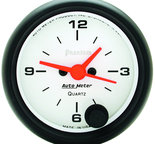 "Autometer Gauge, Clock, 2 1/16"", 12Hr, Analog, Phantom 5785"