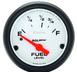 "Autometer Gauge, Fuel Level, 2 5/8"", 0?E to 90?F, Elec, Phantom 5814"