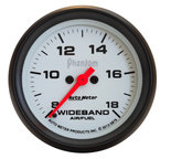 "Autometer Gauge, Air/Fuel Ratio-Wideband, Analog, 2 5/8"", 8:1-18:1, Stepper Motor, Phantom  5879"