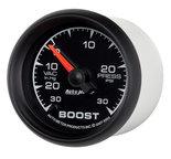 """Autometer Gauge, Vac/Boost, 2 1/16"""", 30inHg-30psi, Digital Stepper Motor, ES 5959"""