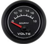 """Autometer Gauge, Voltmeter, 2 1/16"""", 18V, Electric, ES 5992"""