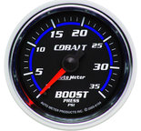 "Autometer Gauge, Boost, 2 1/16"", 35psi, Mechanical, Cobalt 6104"