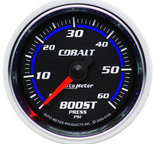 "Autometer Gauge, Boost, 2 1/16"", 60psi, Mechanical, Cobalt 6105"