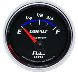 "Autometer Gauge, Fuel Level, 2 1/16"", 0?E to 90?F, Elec, Cobalt 6113"