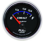 "Autometer Gauge, Fuel Level, 2 1/16"", 73?E to 10?F, Elec, Cobalt 6115"