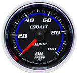 "Autometer Gauge, Oil Pressure, 2 1/16"", 100psi, Mechanical, Cobalt 6121"
