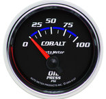 "Autometer Gauge, Oil Pressure, 2 1/16"", 100psi, Electric, Cobalt 6127"