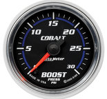"Autometer Gauge, Boost, 2 1/16"", 30psi, Digital Stepper Motor, Cobalt 6160"