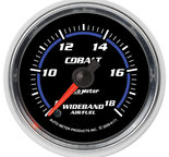 "Autometer Gauge, Air/Fuel Ratio-Wideband, Analog, 2 1/16"", 8:1-18:1, Stepper Motor, Cobalt 6171"