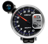 "Autometer Gauge, Tachometer, 5"", 10k RPM, Pedestal w/ ext. Shift-Lite, Cobalt 6299"