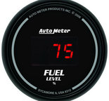 "Autometer Gauge, Fuel Level, 2 1/16"", 0-280? Program., Digital, Black Dial w/ Red LED 6310"