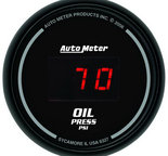 "Autometer Gauge, Oil Pressure, 2 1/16"", 100psi, Digital, Black Dial w/ Red LED 6327"