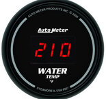 "Autometer Gauge, Water Temp, 2 1/16"", 340şF, Digital, Black Dial w/ Red LED 6337"