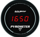 "Autometer Gauge, Pyrometer (EGT), 2 1/16"", 1600şF, Digital, Black Dial w/ Red LED 6345"