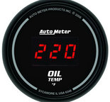 "Autometer Gauge, Oil Temp, 2 1/16"", 340şF, Digital, Black Dial w/ Red LED 6348"