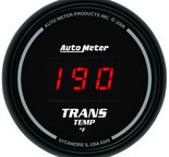 "Autometer Gauge, Trans Temp, 2 1/16"", 340şF, Digital, Black Dial w/ Red LED 6349"