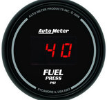 "Autometer Gauge, Fuel Pressure, 2 1/16"", 100psi, Digital, Black Dial w/ Red LED 6363"