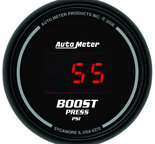 "Autometer Gauge, Boost, 2 1/16"", 60psi, Digital, Black Dial w/ Red LED 6370"