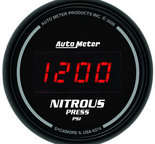 "Autometer Gauge, Nitrous Pressure, 2 1/16"", 1600psi, Digital, Black Dial w/ Red LED 6374"