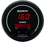"Autometer Gauge, Speedo, 3 3/8"", 160mph, Elec. Program., Digital, Black Dial w/ Red LED 6388"