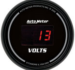 "Autometer Gauge, Voltmeter, 2 1/16"", 18V, Digital, Black Dial w/ Red LED 6393"
