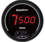 "Autometer Gauge, Tach, 3 3/8"", 10k RPM, In-Dash, Digital, Black Dial w/ Red LED 6397"