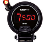 "Autometer Gauge, Tach, 3 3/4"", 10k RPM, Pedestal w/ ext. Quick-Lite,  Digital, Blk Dial w/ Red LED 6399"
