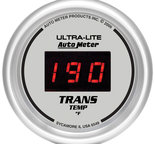 "Autometer Gauge, Trans Temp, 2 1/16"", 340şF, Digital, Silver Dial w/ Red LED 6549"