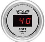"Autometer Gauge, Fuel Pressure, 2 1/16"", 100psi, Digital, Silver Dial w/ Red LED 6563"