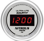 "Autometer Gauge, Nitrous Pressure, 2 1/16"", 1600psi, Digital, Silver Dial w/ Red LED 6574"