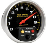"Autometer Gauge, Tachometer, 5"", 10k RPM, In-Dash w/Peak Memory, Pro-Comp 6801"