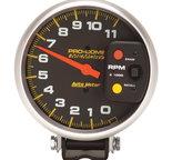 "Autometer Gauge, Tachometer, 5"", 11k RPM, Pedestal w/Peak Memory, Pro-Comp 6811"