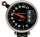 """Autometer Gauge, Tach, 5"""", 11k RPM, Pedestal w/ Quick Lite & Peak Memory, Pro-Comp 6857"""