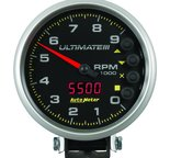 "Autometer Gauge, Tach, 5"", 9k RPM, Pedestal, Datalogging, Ultimate III Playback, Black 6887"