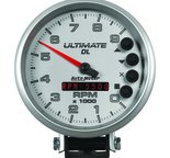 "Autometer Gauge, Tach, 5"", 9k RPM, Pedestal, Datalogging, Ultimate DL Playback, Silver 6894"