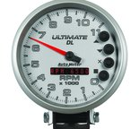 "Autometer Gauge, Tach, 5"", 11k RPM, Pedestal, Datalogging, Ultimate DL Playback, Silver 6895"