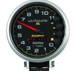 """Autometer Gauge, Tach, 5"""", 11k RPM, Pedestal, Datalogging, Ultimate DL Playback, Black 6897"""